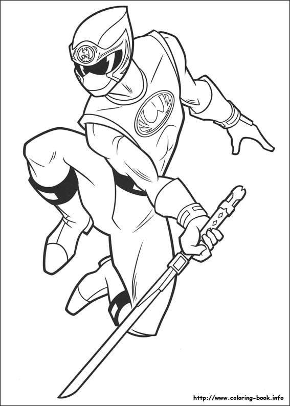 Power Rangers Coloring Page 2  14073