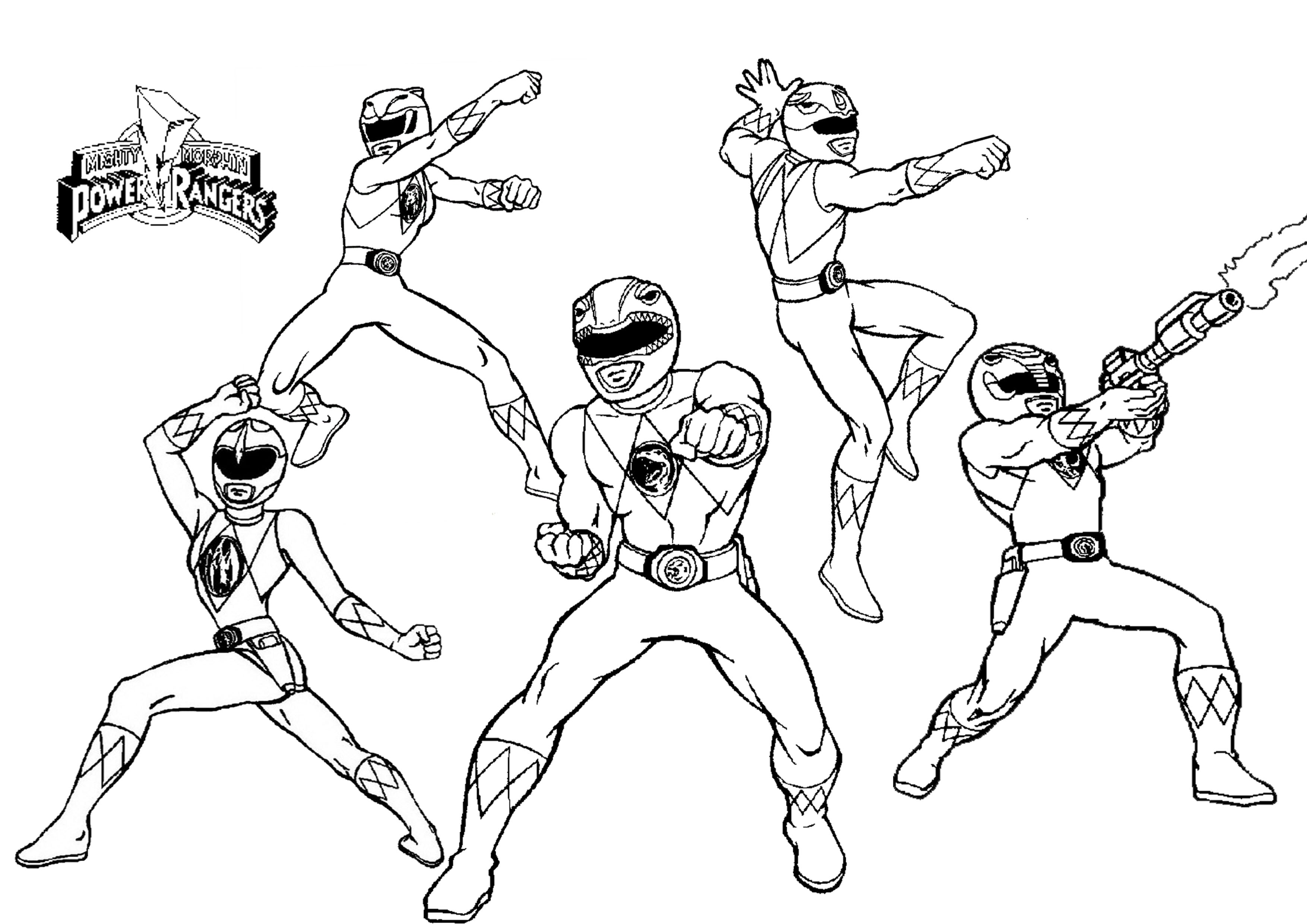 Power Rangers Coloring Page 7  14078