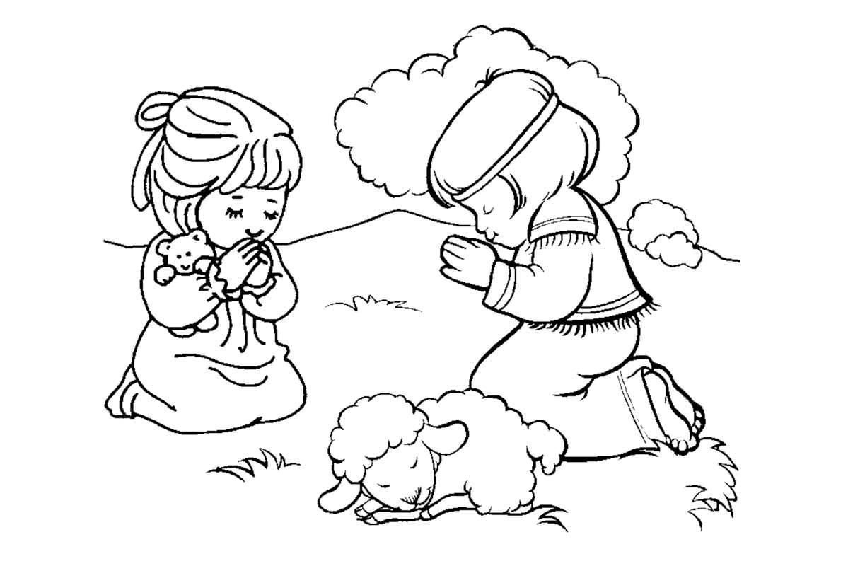 Prayer Coloring Page Many Interesting Cliparts With Praying Pages