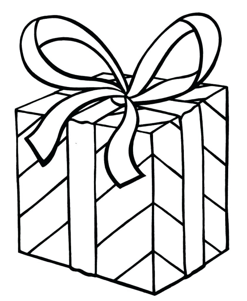 Present Coloring Page 8  7483