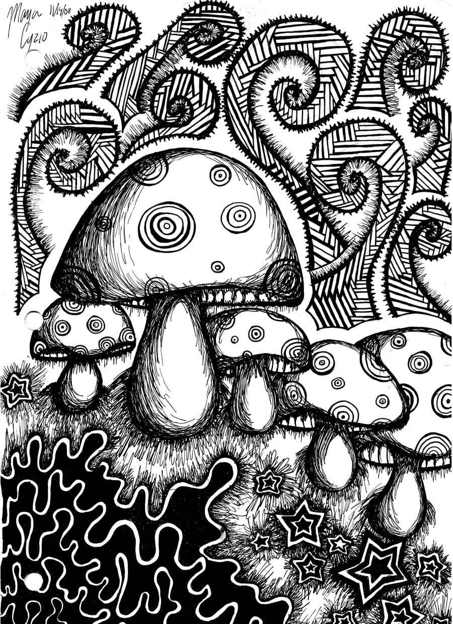 Psychedelic Coloring Pages 50 Trippy