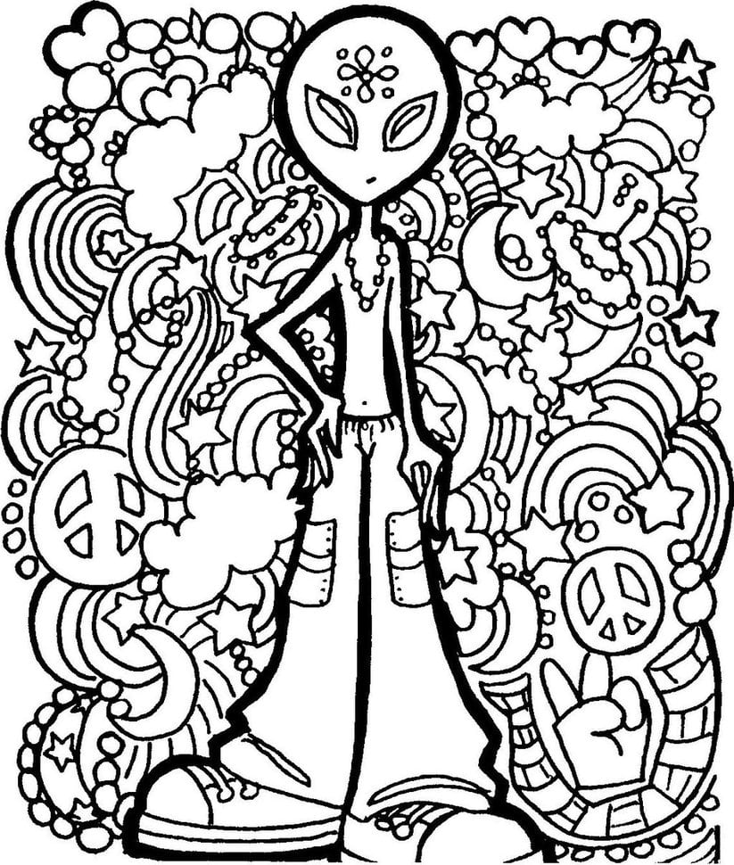 Psychedelic Coloring Pages Http Colorings Co Weed