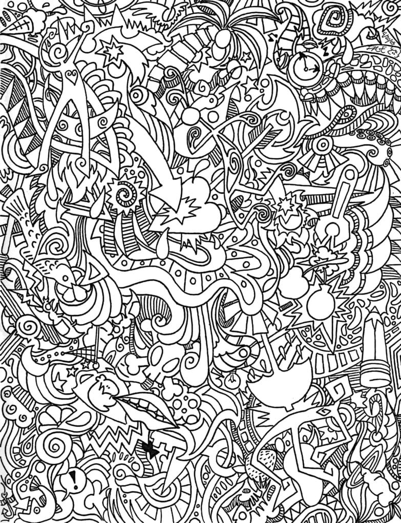 Psychedelic Coloring Pages Print Montenegroplaze Me