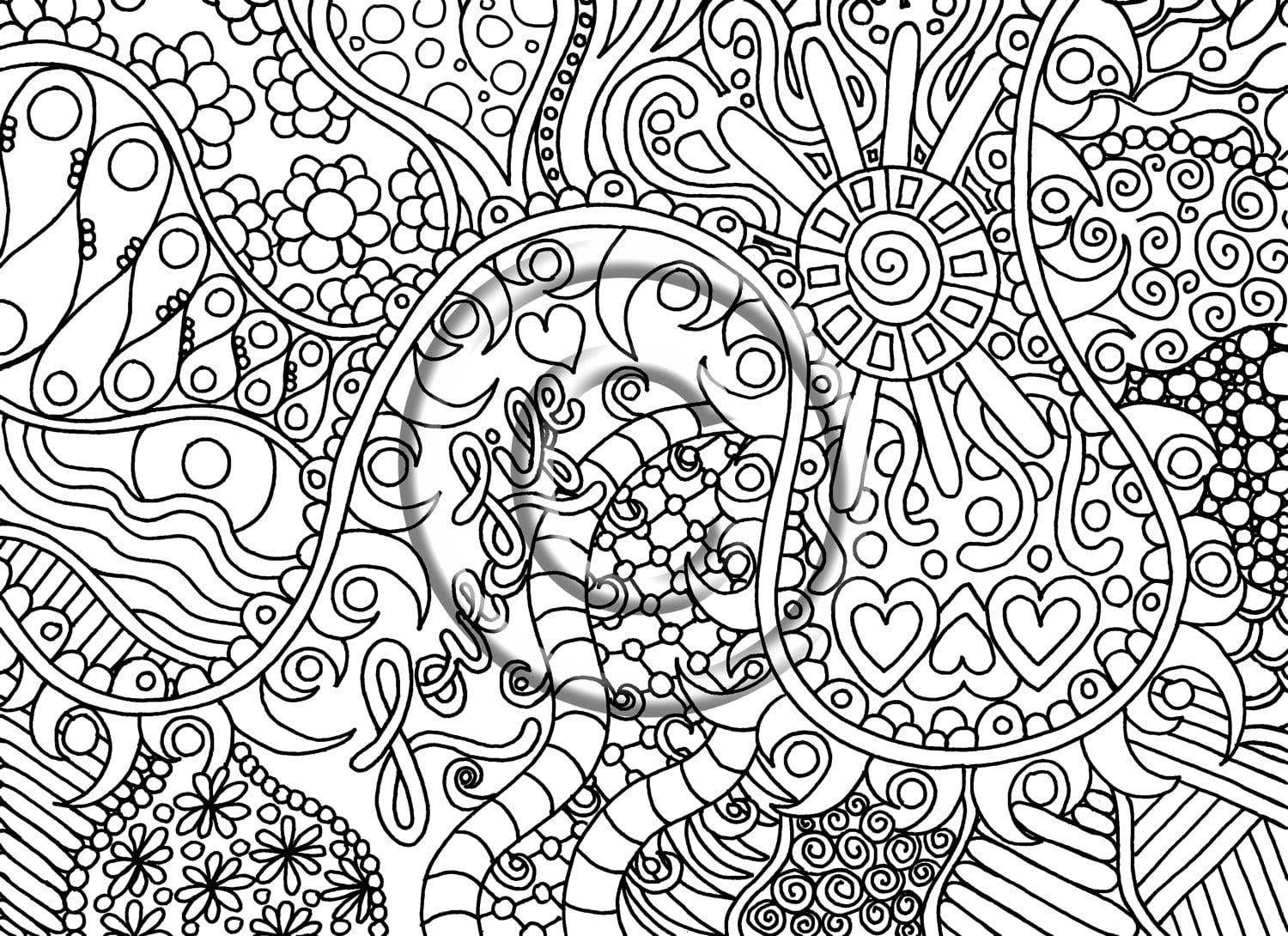 Psychedelic Coloring Pages Printable Coloring Image Free Coloring