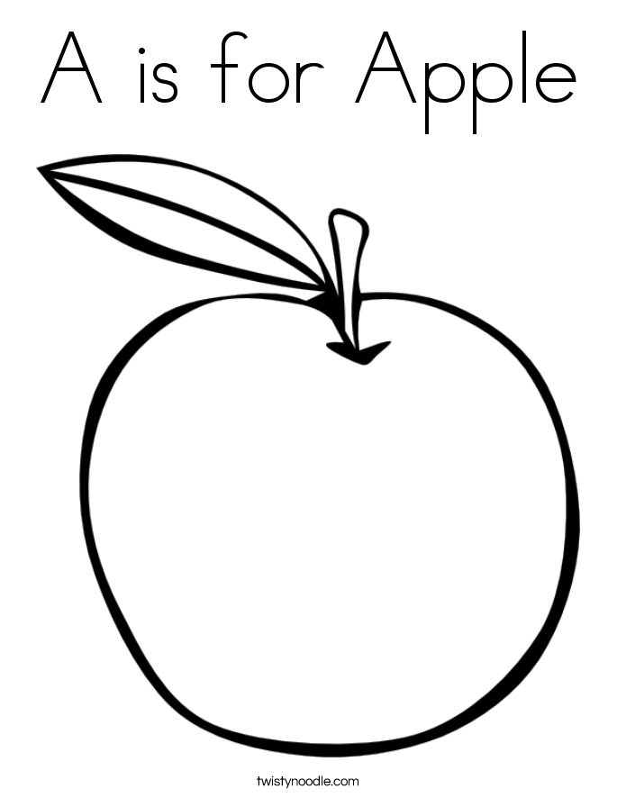 Red Apple Coloring Pages Print Copy