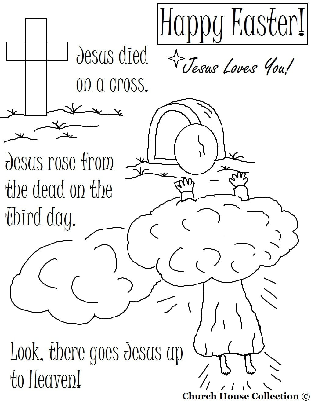Religious Easter Coloring Pages Within Resurrection For