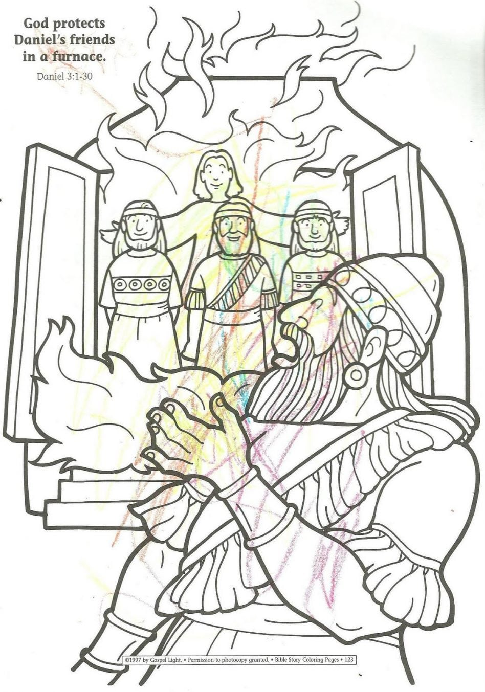 coloring pages meshach abendego - photo#11