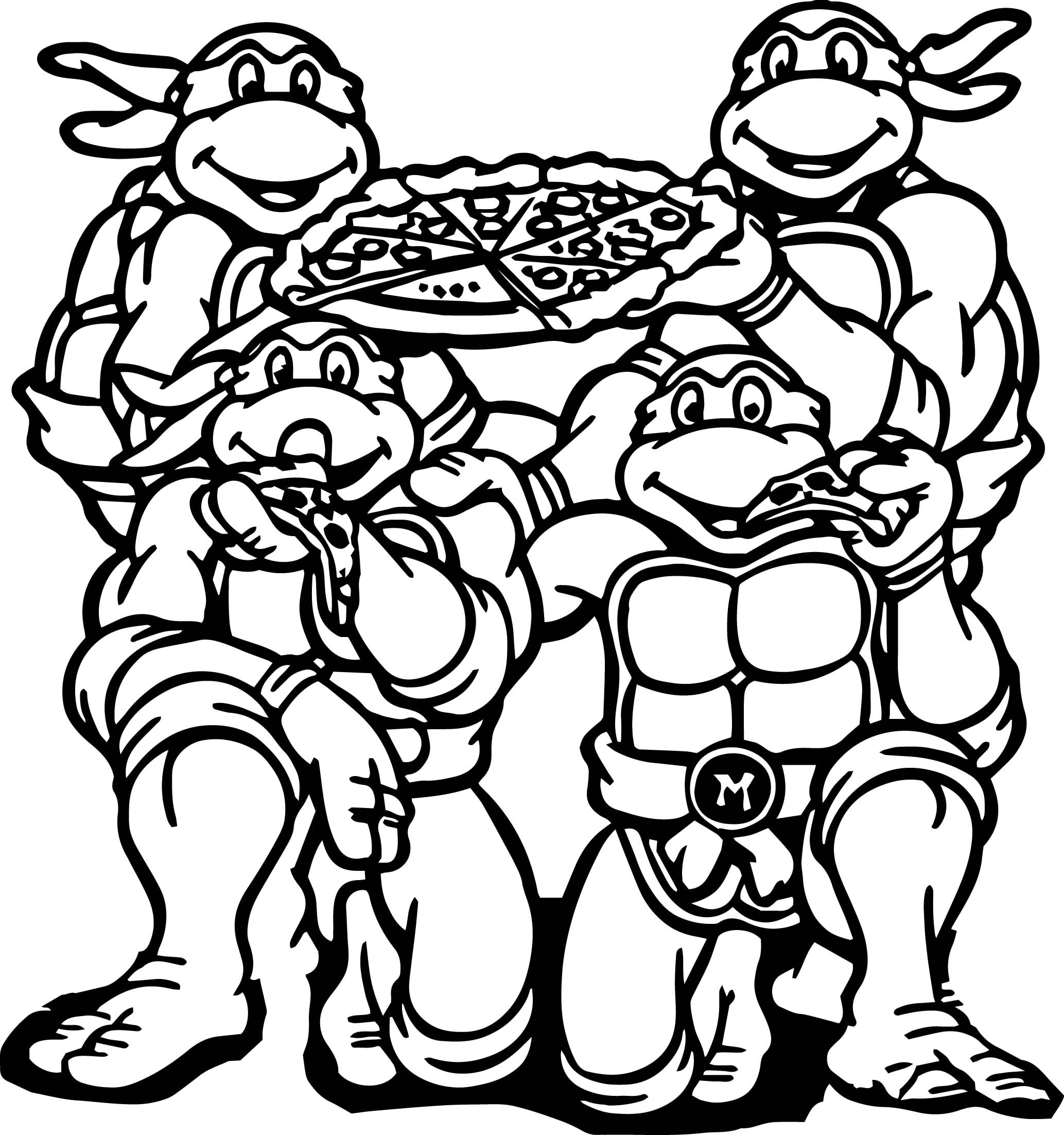 Free Ninja Turtle Coloring Pages - NEO Coloring