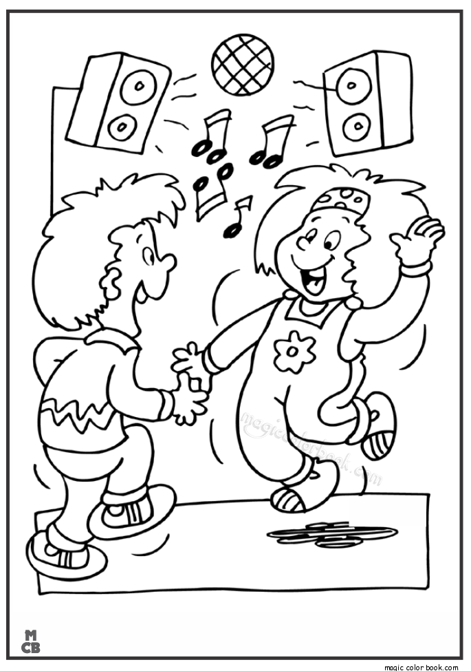Dance Coloring Pages Neo Coloring Dancing New