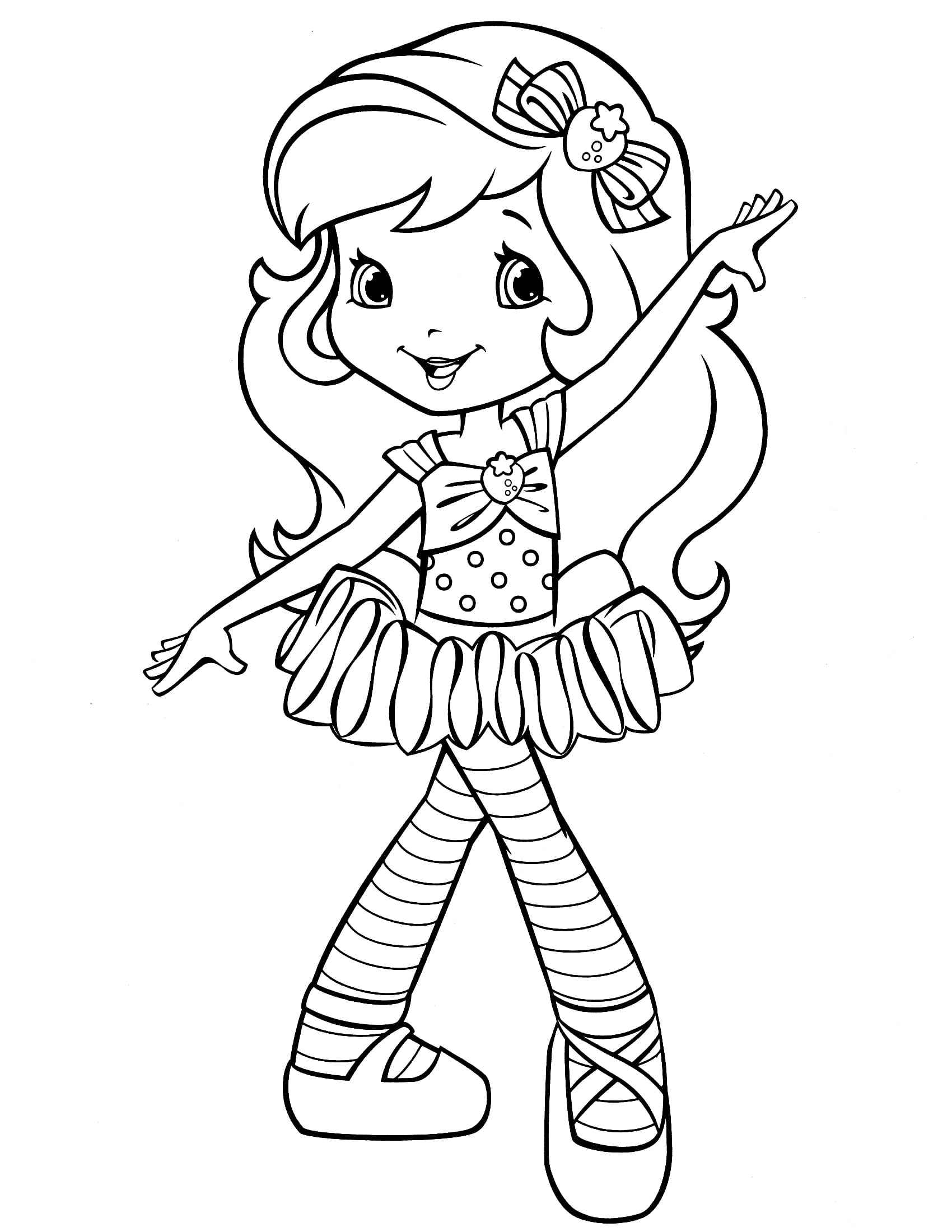 Strawberry Shortcake Coloring Page With Wallpaper Hd Background