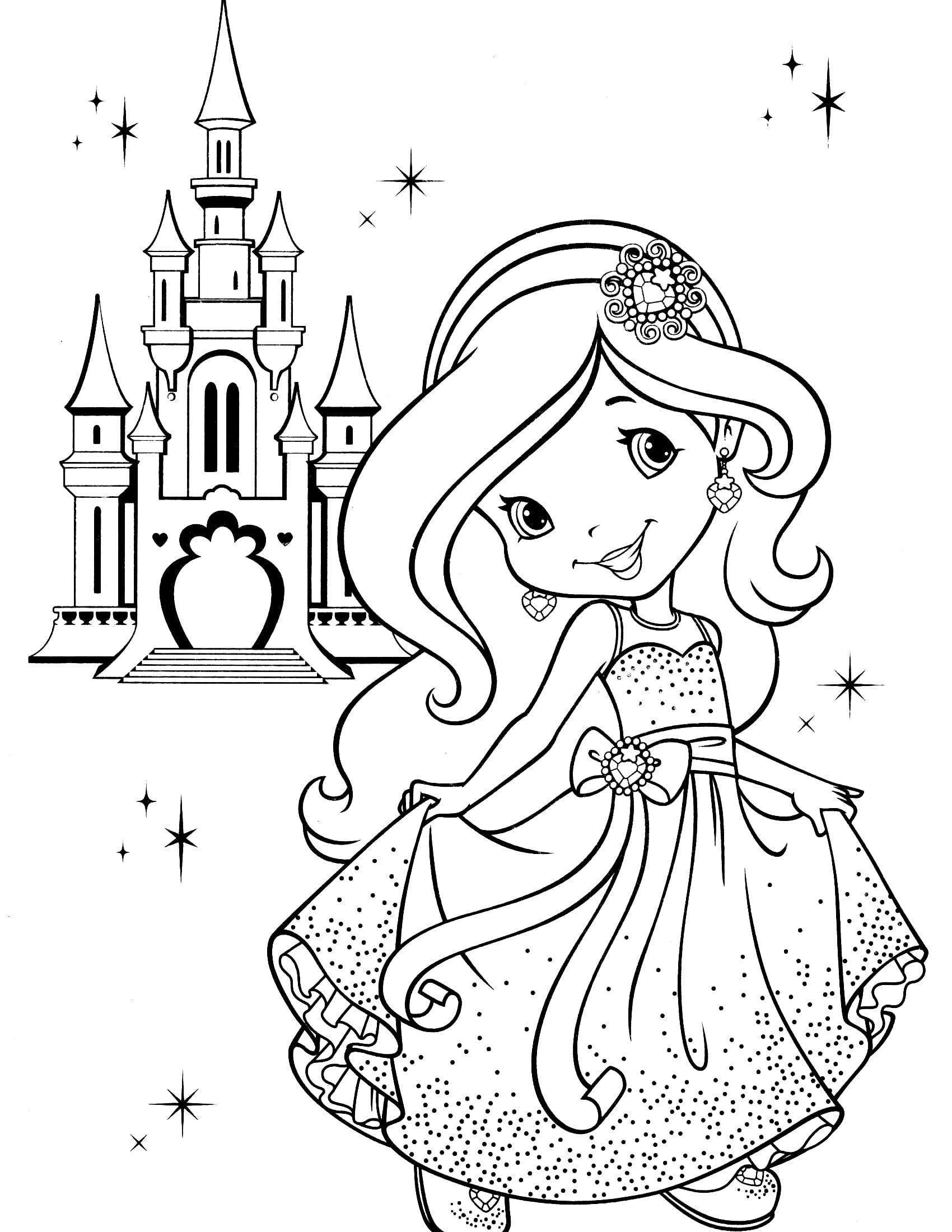 Strawberry Shortcake Coloring Pages 2 Page