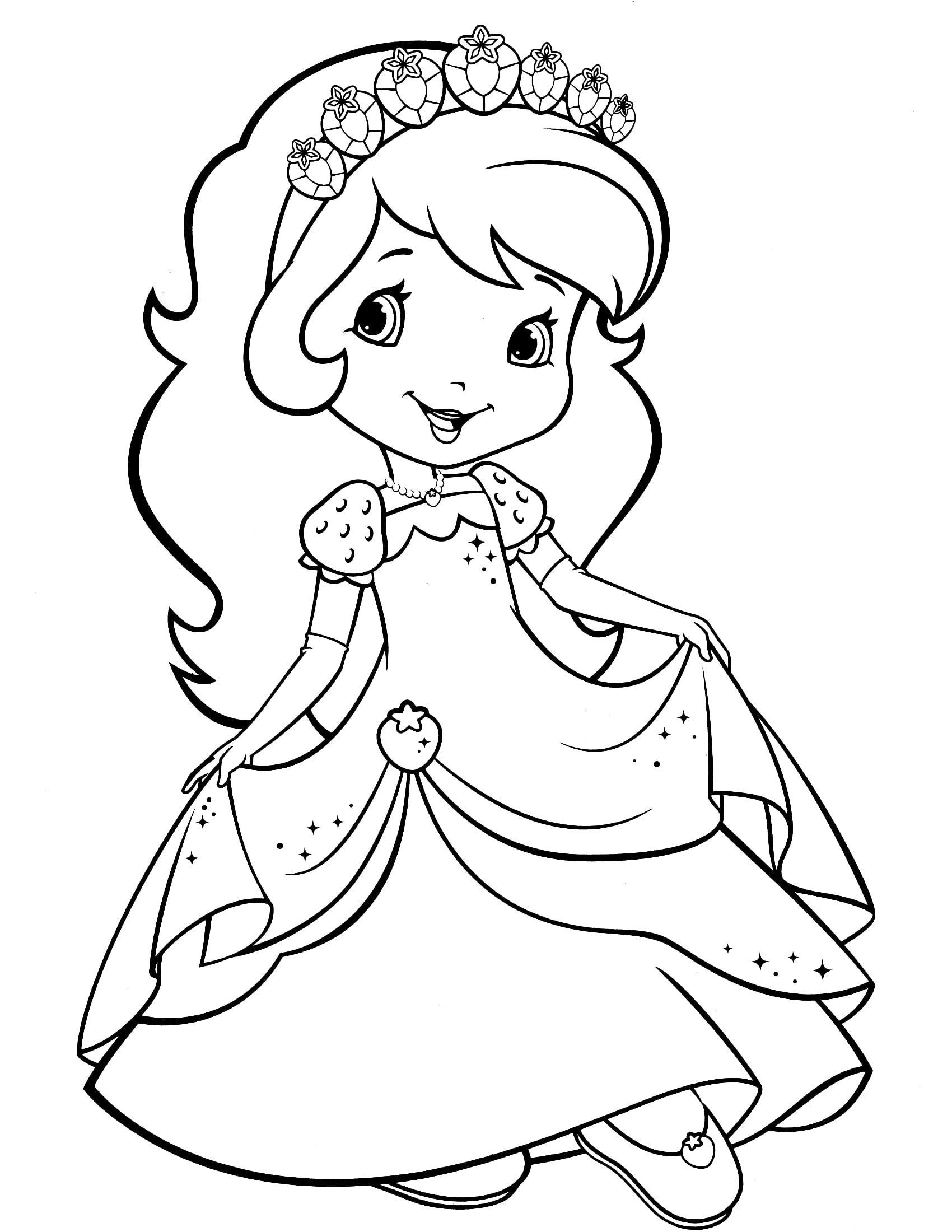Strawberry Shortcake Coloring Pages Superb Strawberry Shortcake