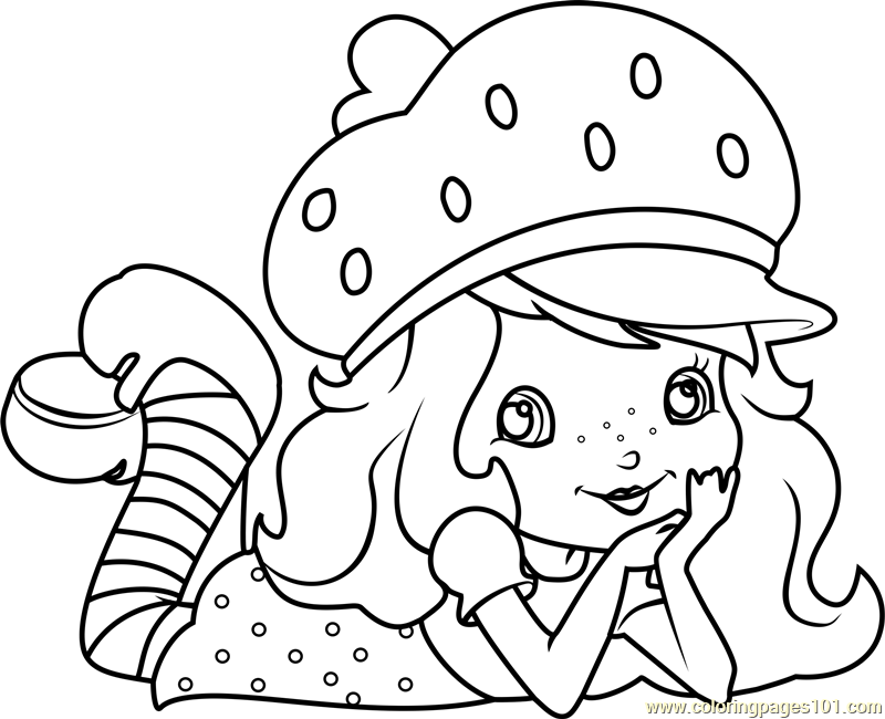 Homely Inpiration Strawberry Shortcake Coloring Pages And Friends