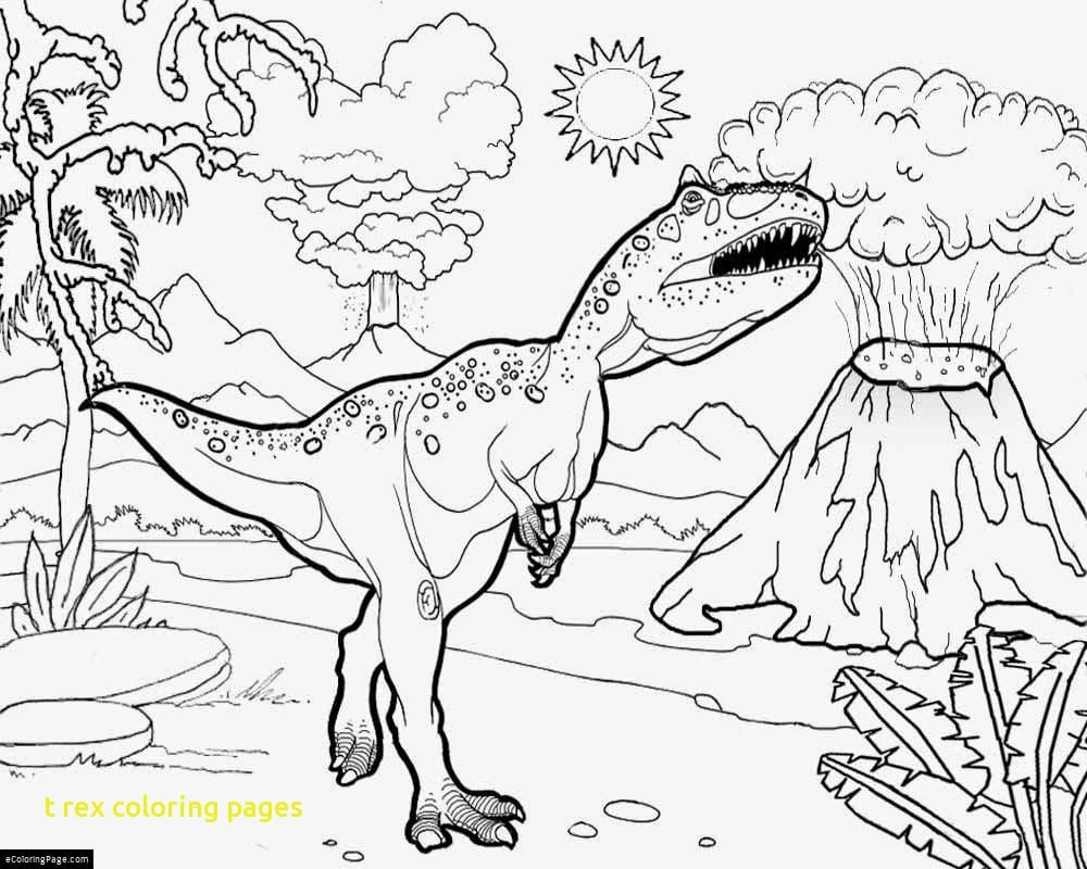 T Rex Coloring Pages With 29 T Rex Coloring Page T Rex Coloring
