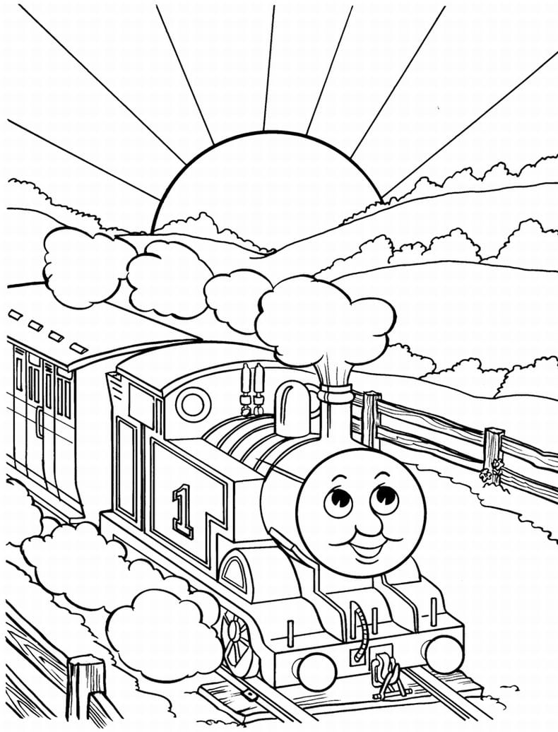 Thomas The Train Coloring Page Pages Printable Google Search Kids