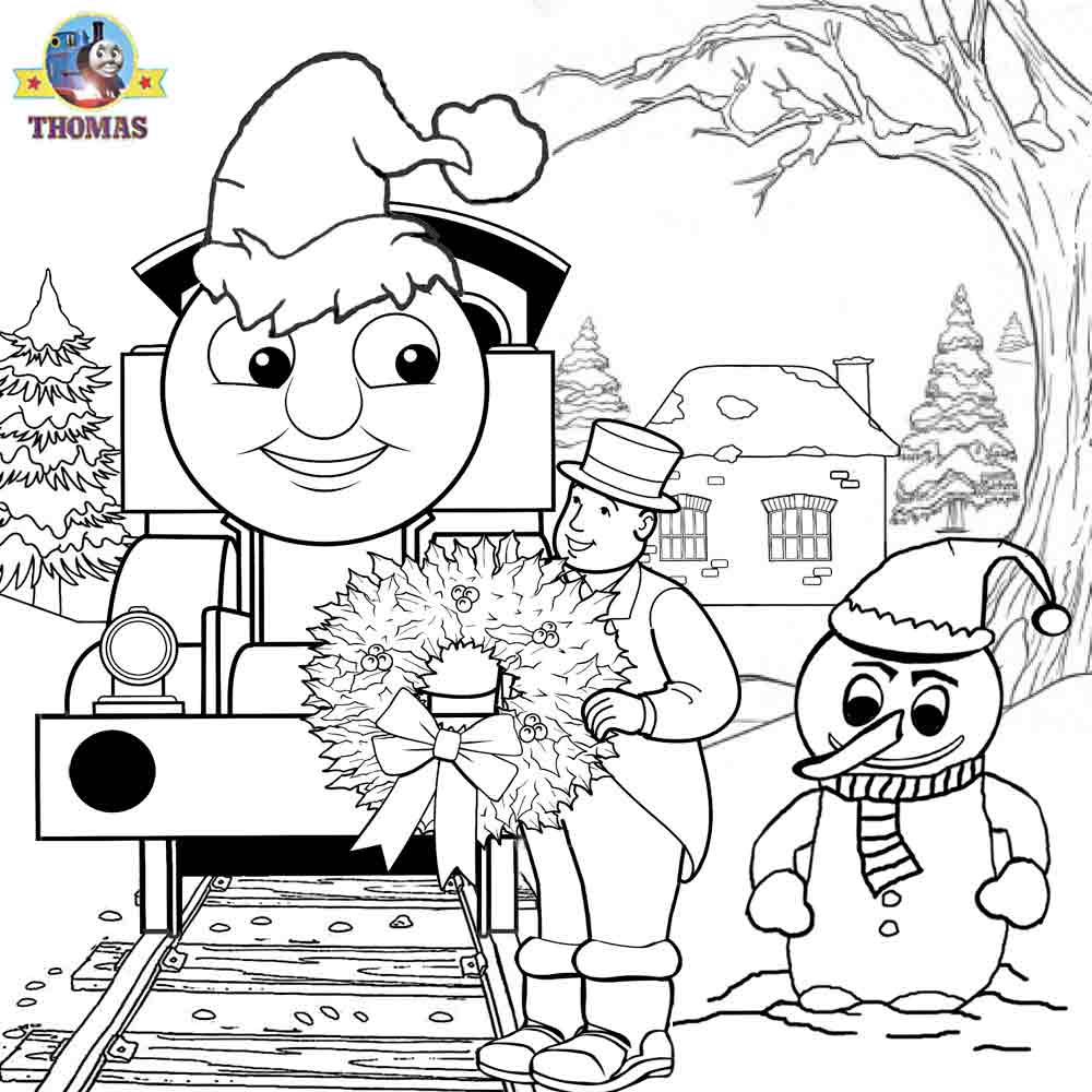 Thomas The Train Coloring Pages For Christmas