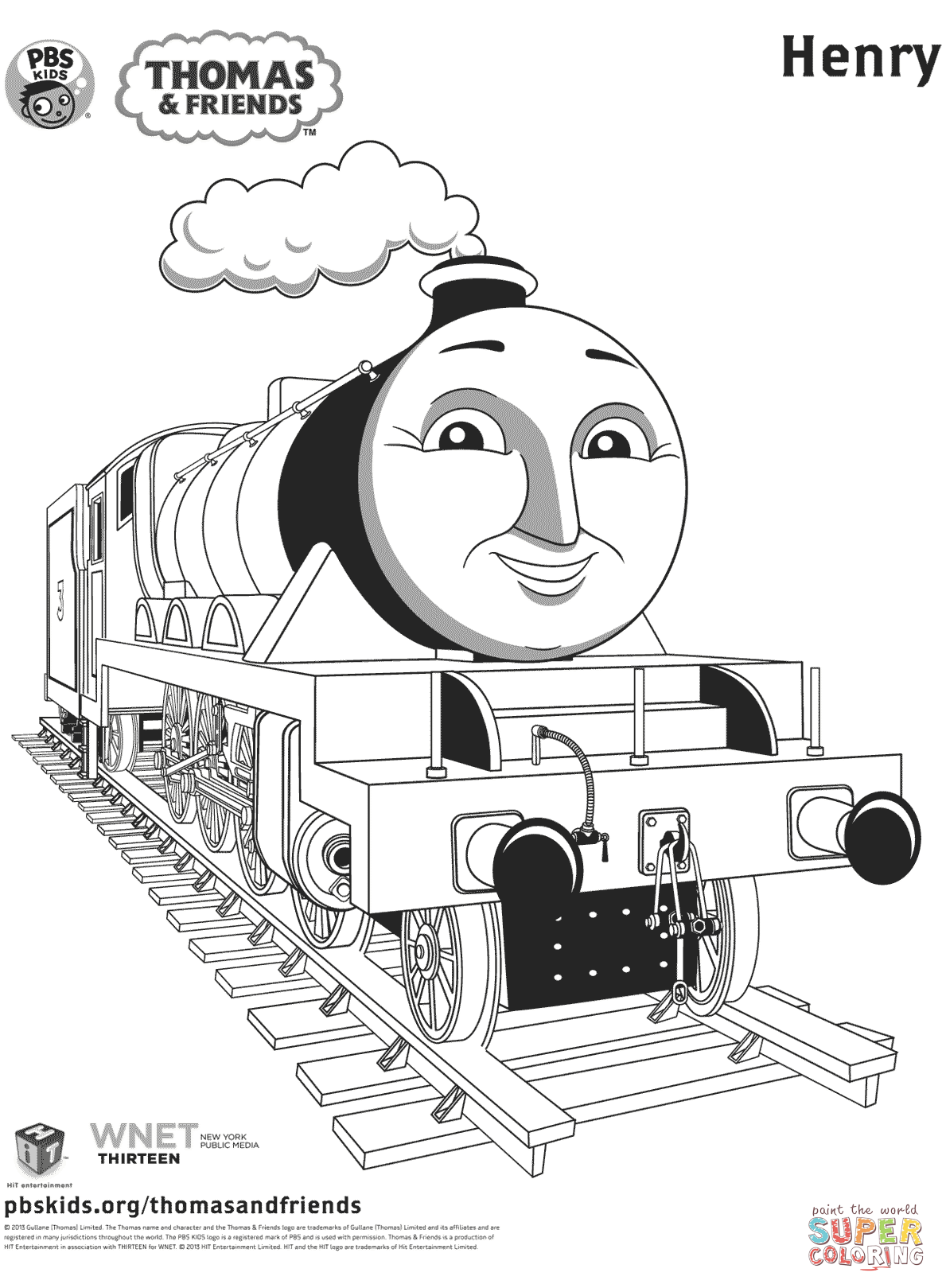 Thomas The Train Coloring Pages Friends Free