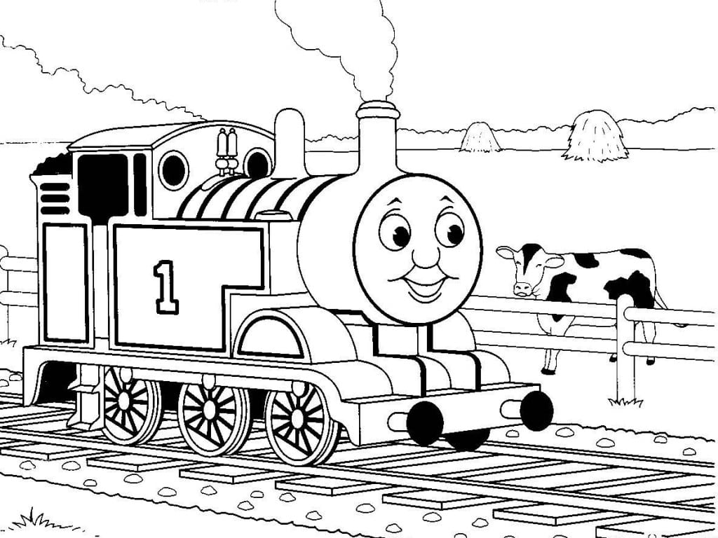 Thomas The Train Coloring Pages Printable Tank Engine James