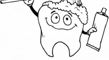 Tooth Coloring Pages