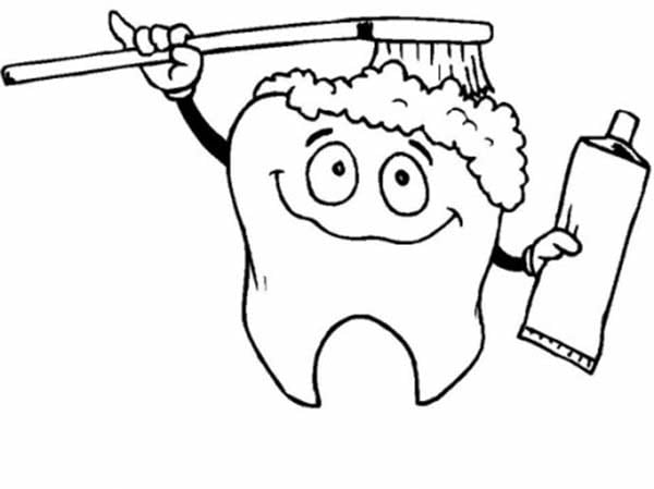 Dental Coloring Pages Teeth Toothbrushes Fun
