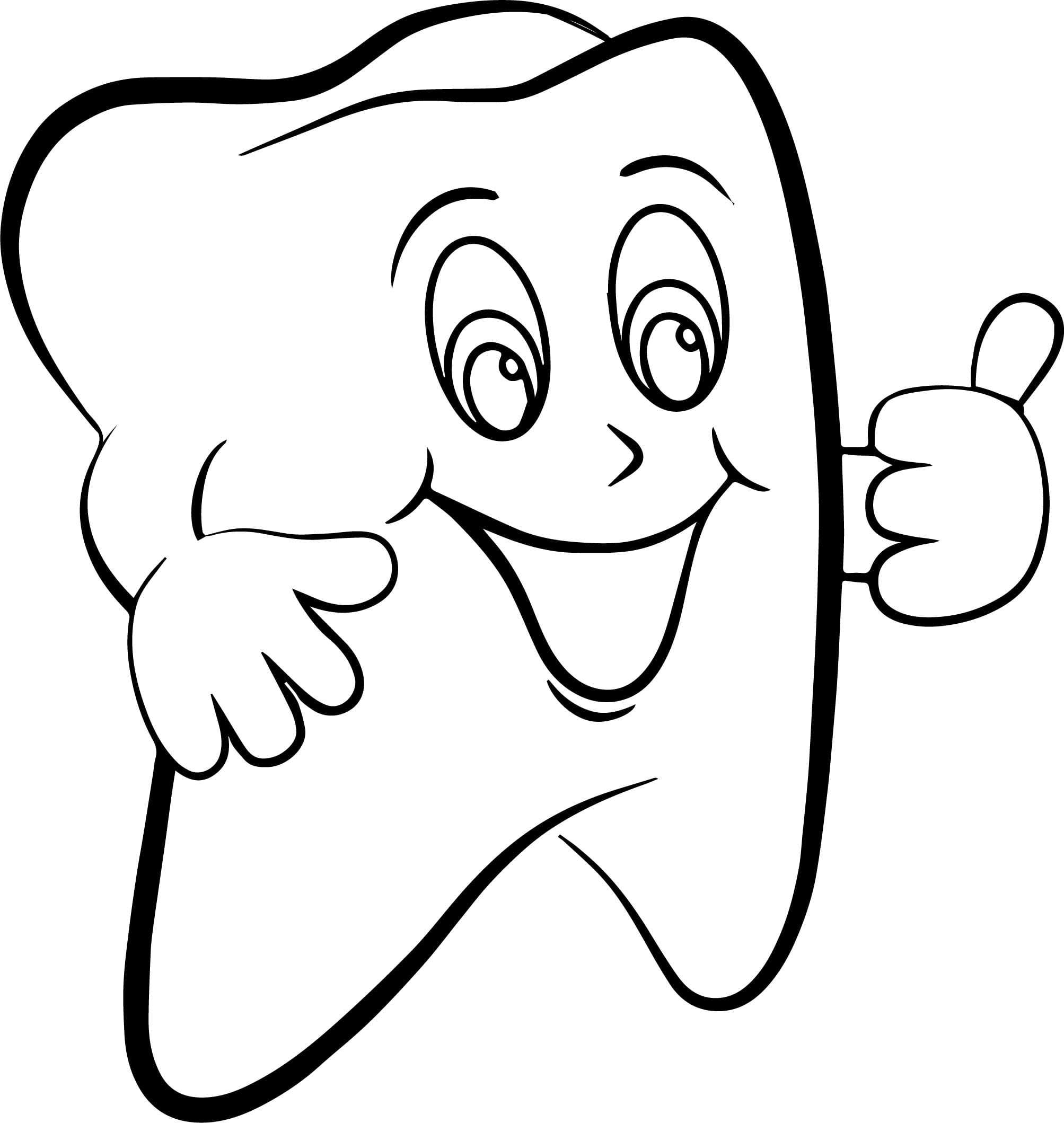 Tooth Coloring Pages Super Dental Page On Printable