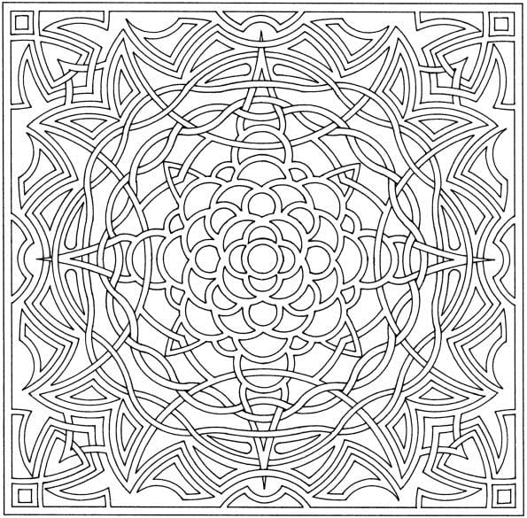 Amazing Decoration Complex Coloring Pages Free Complex Coloring