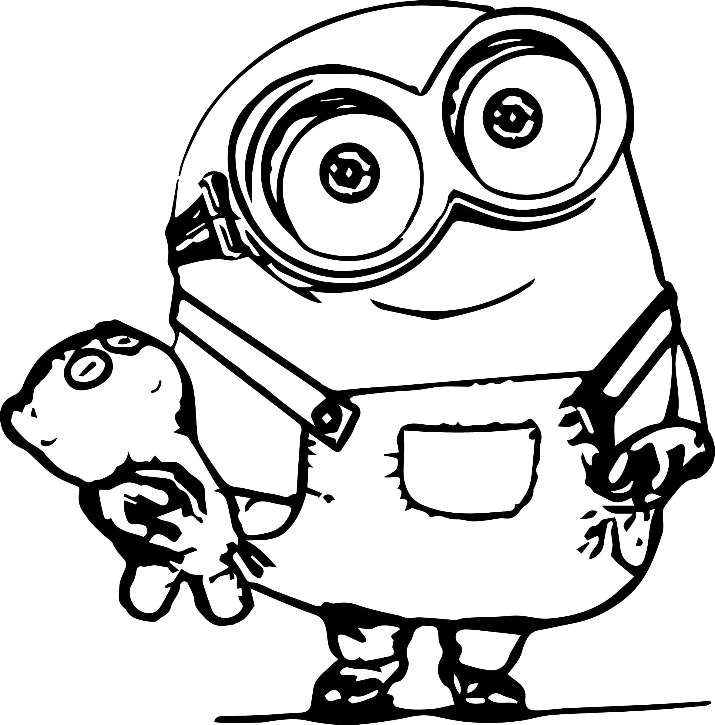 Awesome Minions Coloring Pages Wecoloringpage Printable Of Cute