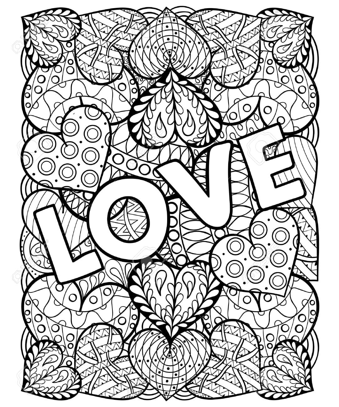 Valentine Coloring Pages For Adults - NEO Coloring