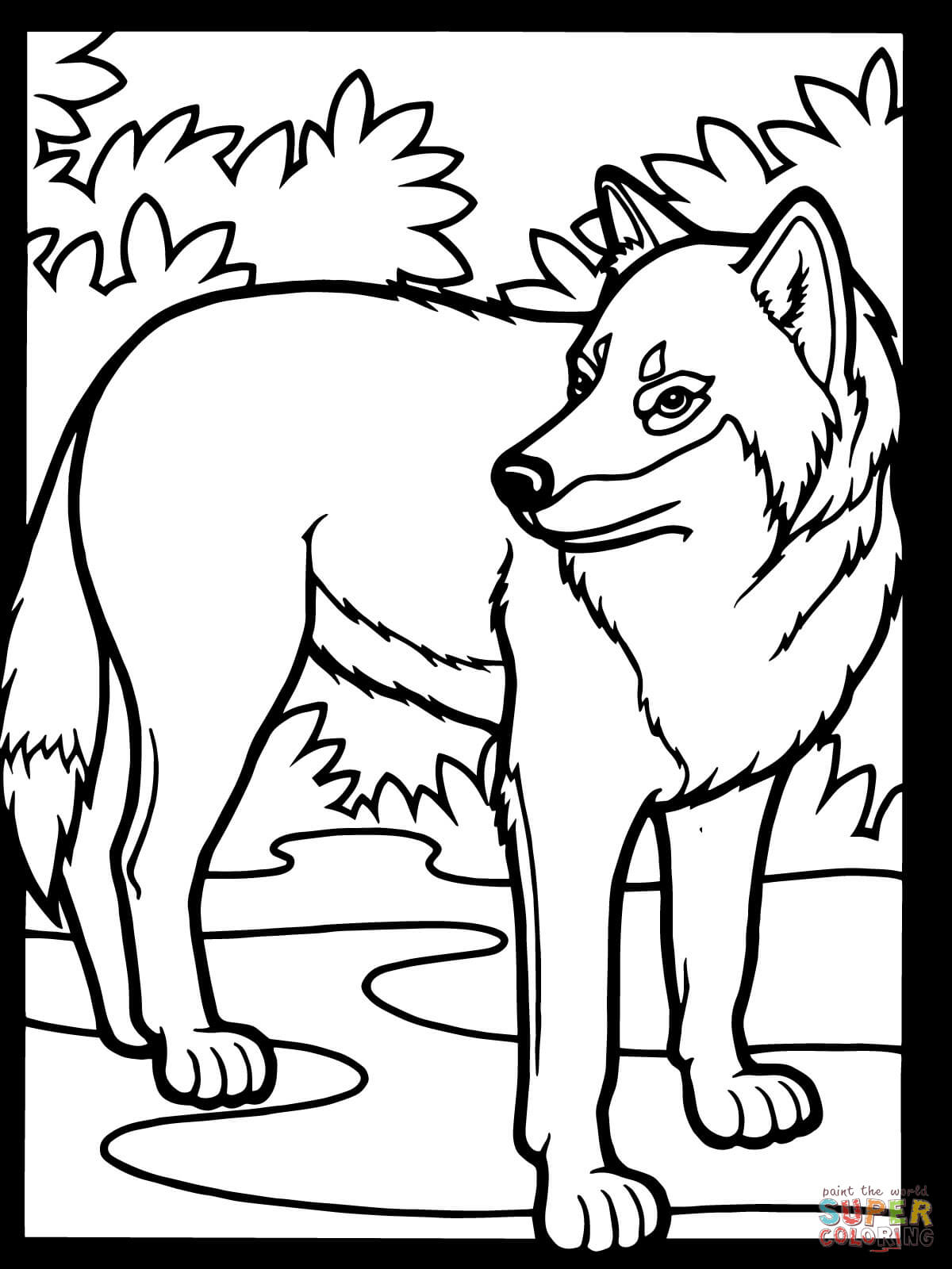 Value Coloring Pages Of Wolfs Wolf Free  4566