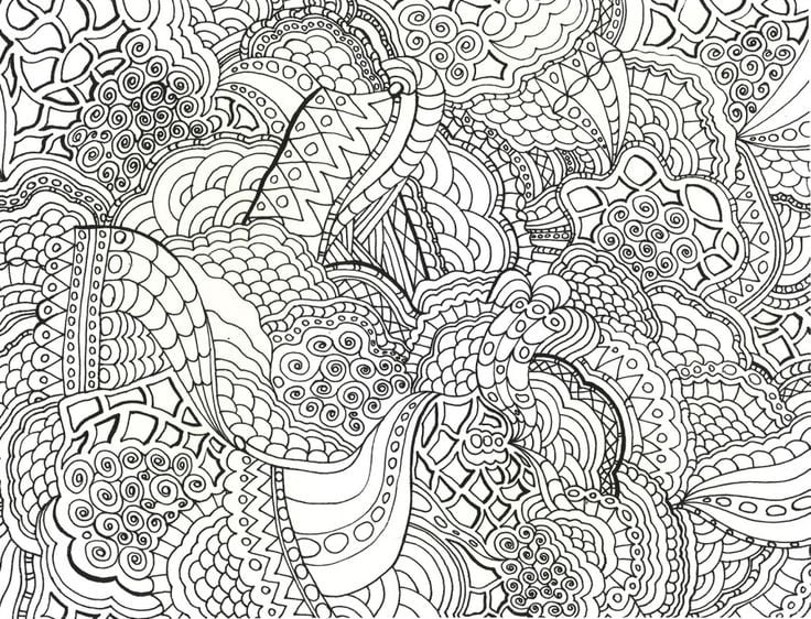 Very Detailed Coloring Pages For Adults Gianfreda 72985 In