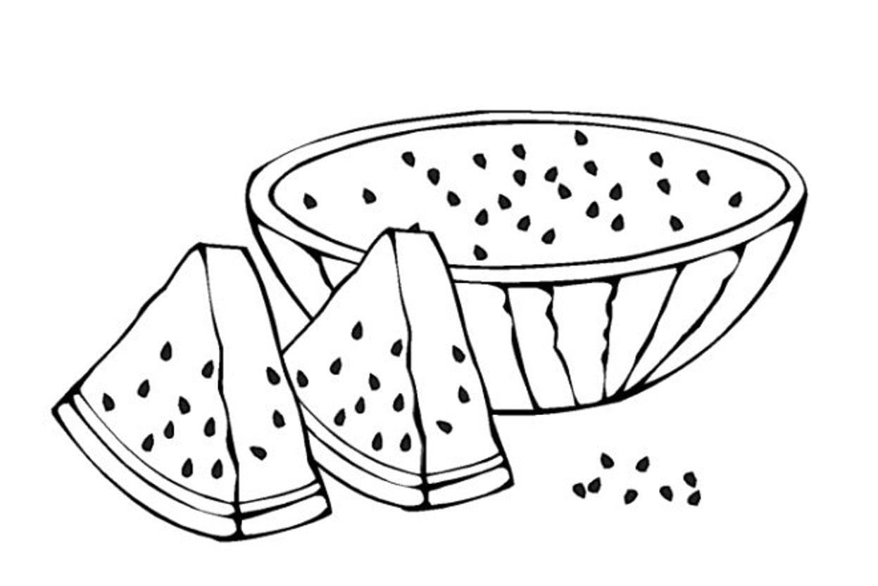 Watermelon Coloring Page Online 38 With Additional Pages