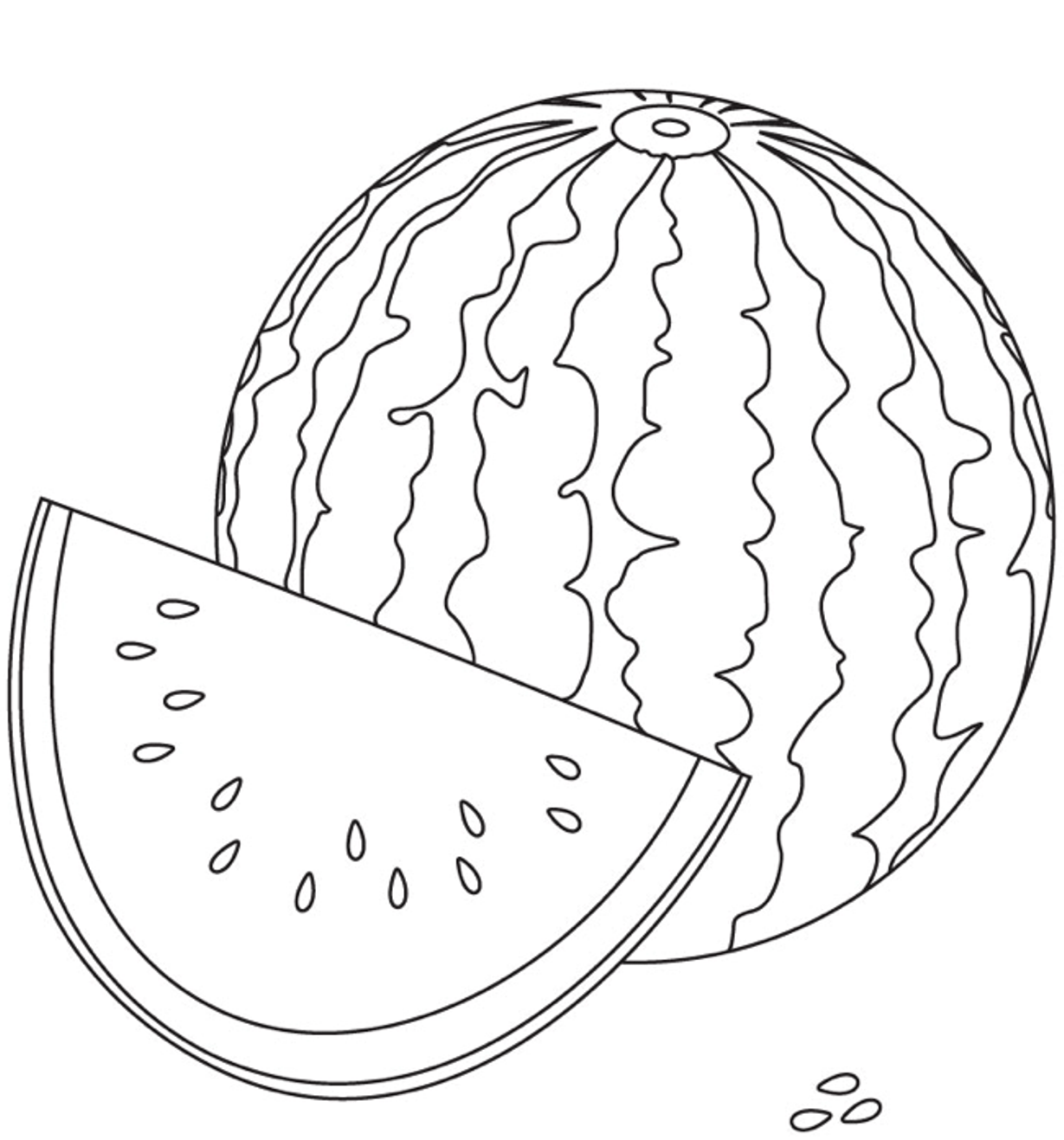 Watermelon Coloring Page Pictures 13 In Online With