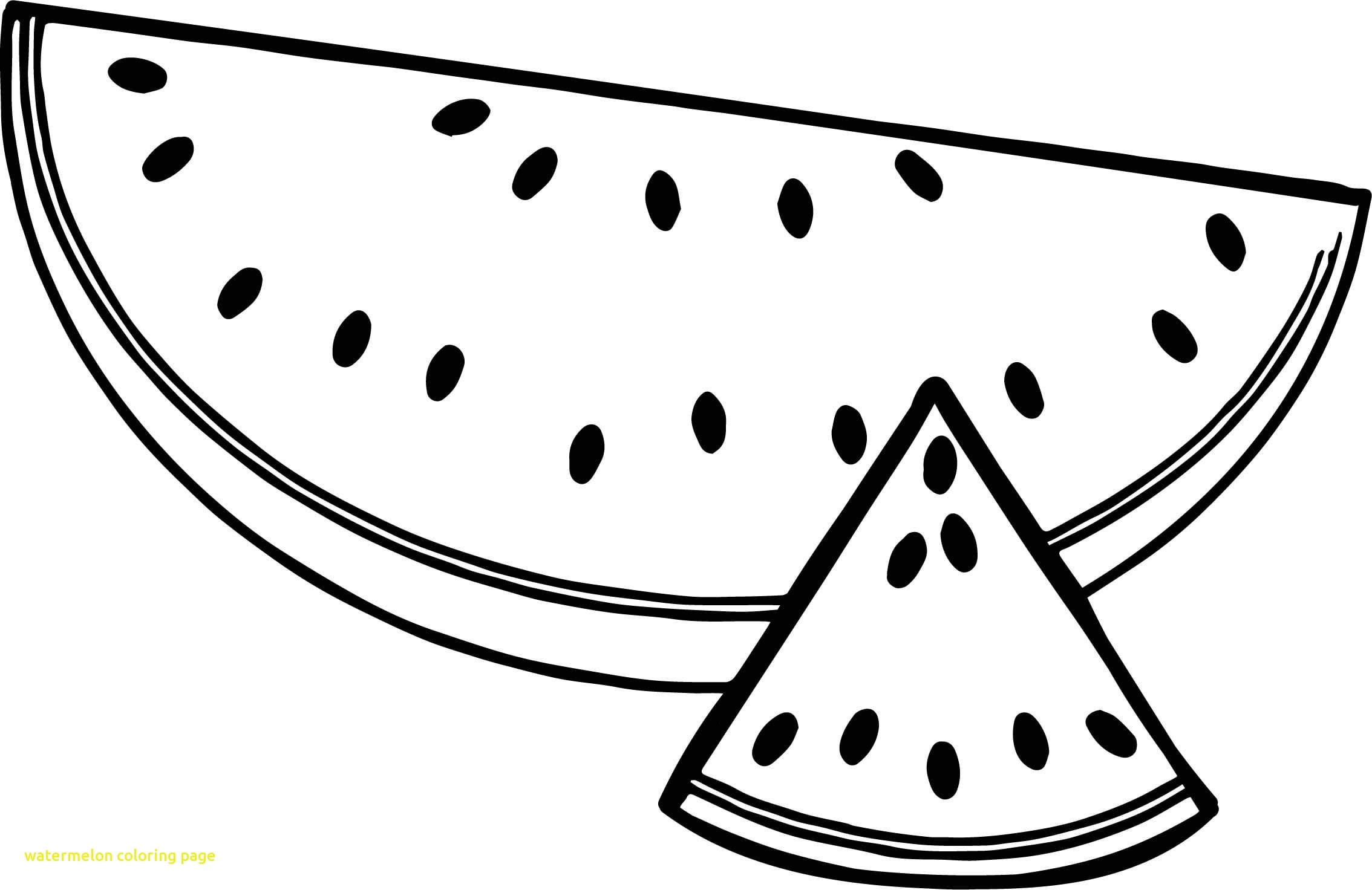 Watermelon Coloring Page Free Printable Pages And