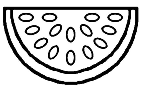 Crimson Sweet Watermelon On Watermelon Coloring Page