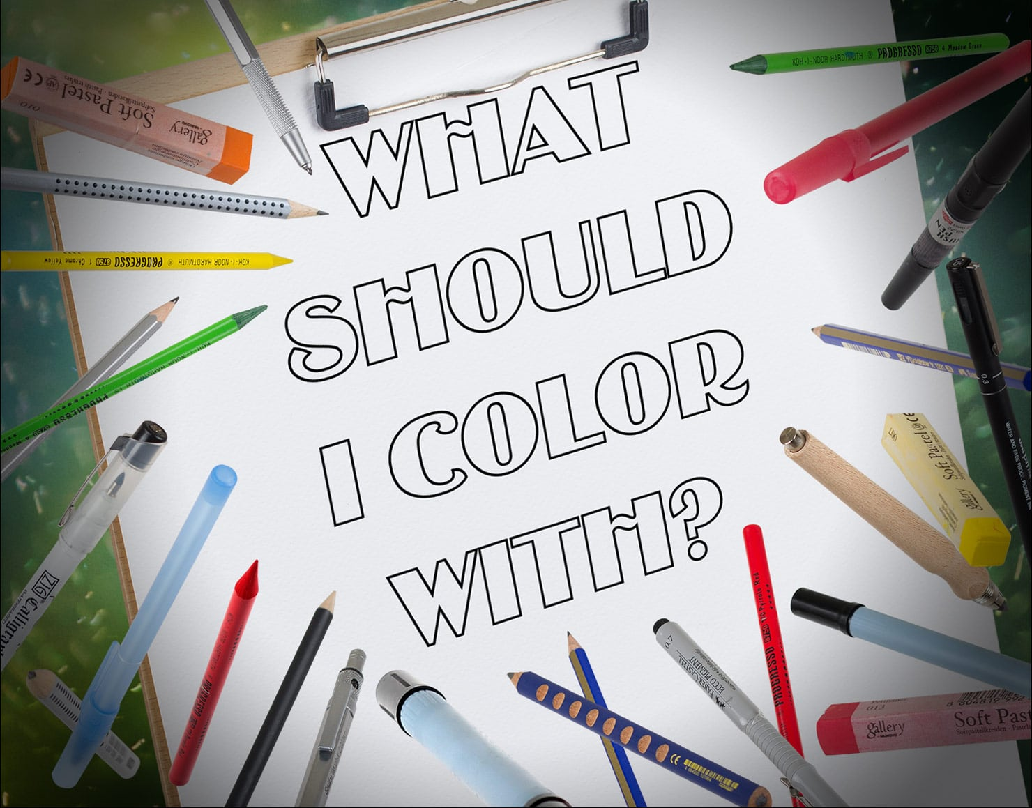 Best Coloring Tools For Getting Started With Adult Coloring Books
