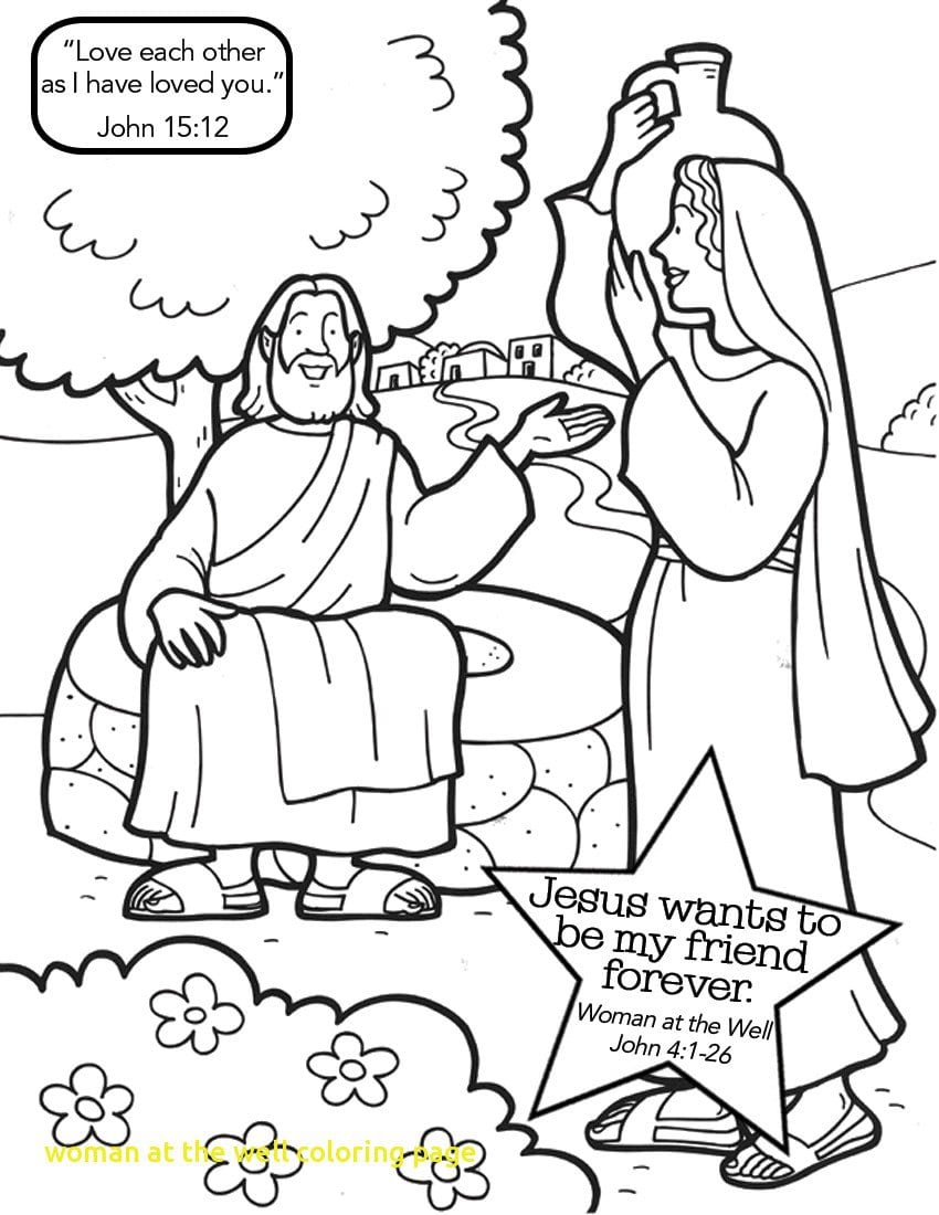 Woman At The Well Coloring Page With The Women At Well John 41 New