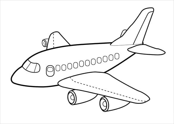 Airplane Picture To Coloring Pages