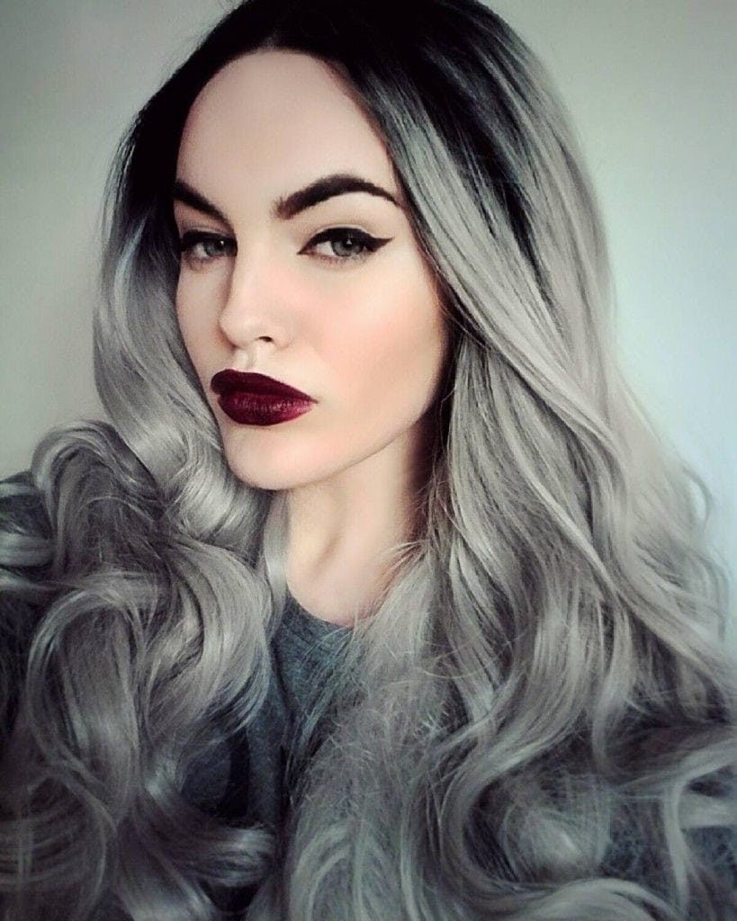 Women Grey Blue Hair Color Trends For All Season And All Ages