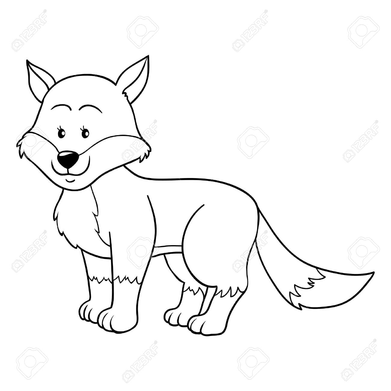 Coloring Book (fox) Royalty Free Cliparts, Vectors, And Stock