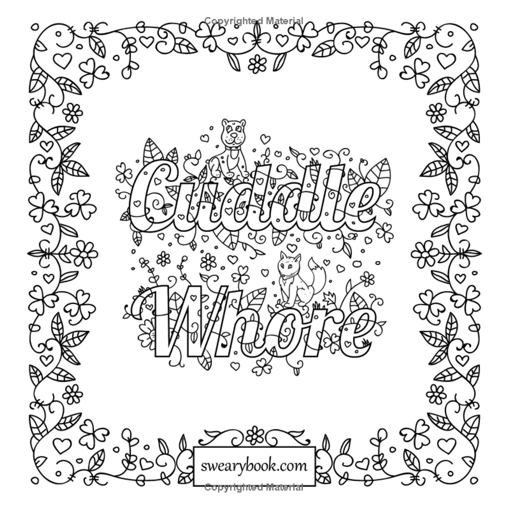It's just an image of Enterprising dirty word coloring book