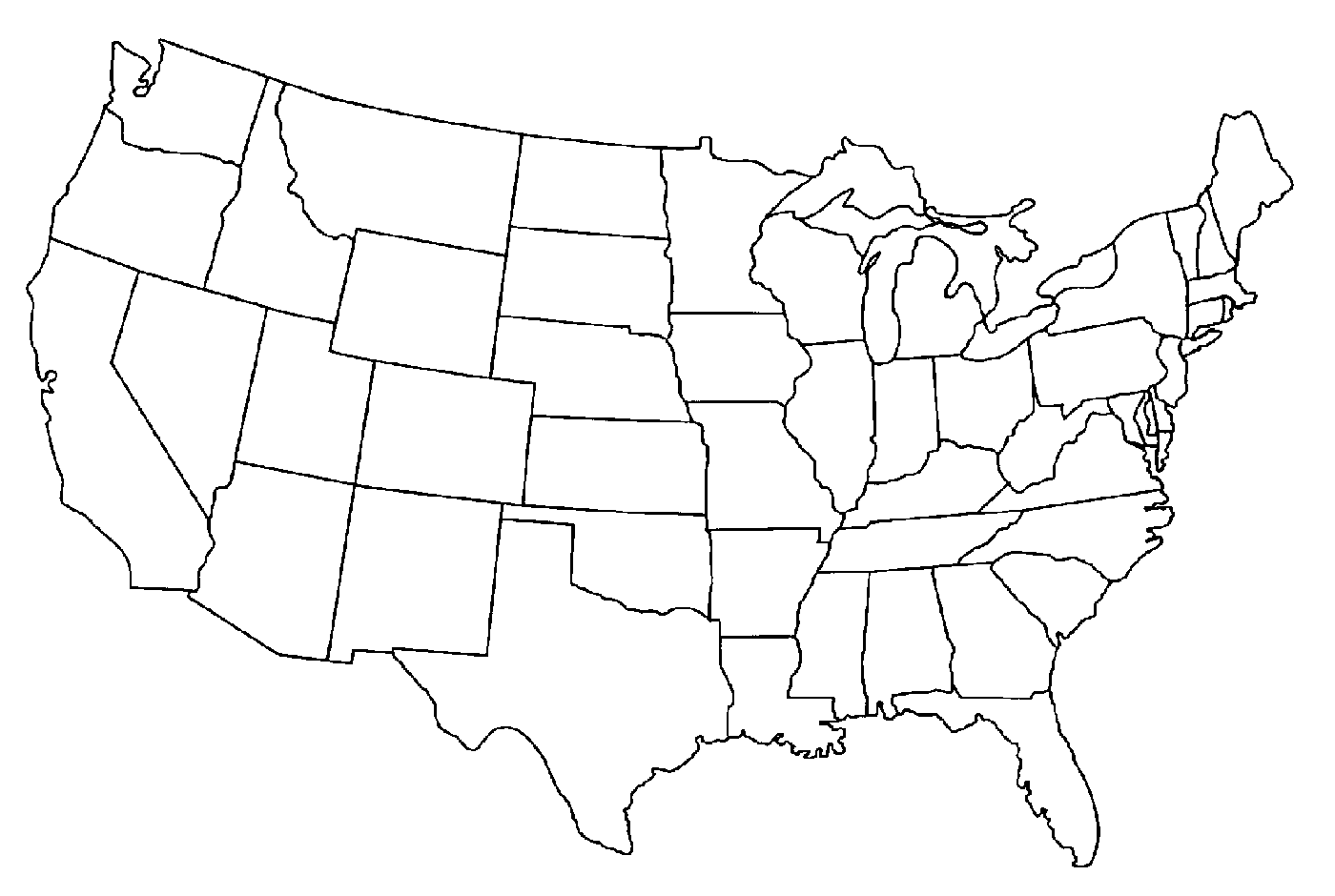 40 America Map Coloring Page Map Of The Usa Coloring Pages Color