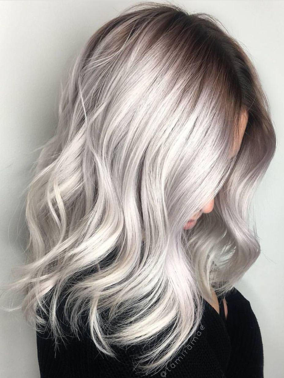 Neo Coloring  Deborahpraha ♥   Silver Grey Hair Color  Haircolor