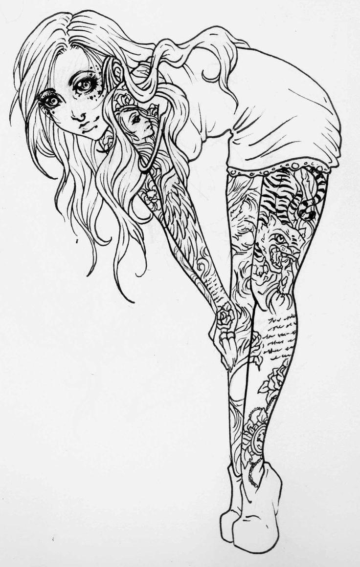 Pin Up Girl Tattoo Designs