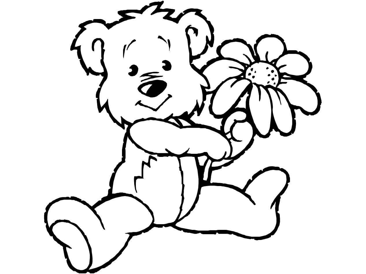 Teddy Bear Coloring Pages Theme