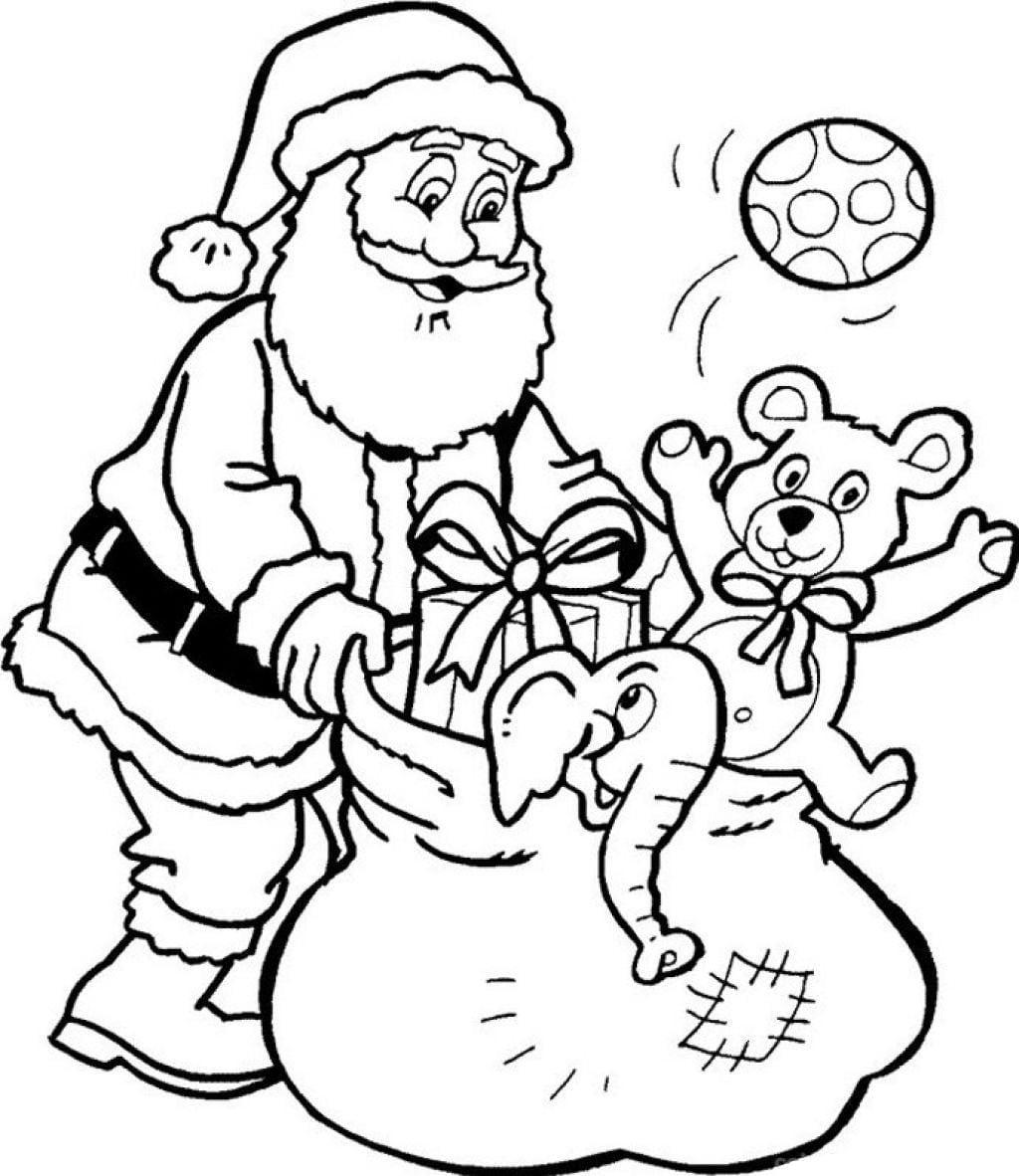 Printable Santa Claus Coloring Page Printable Santa Claus Coloring