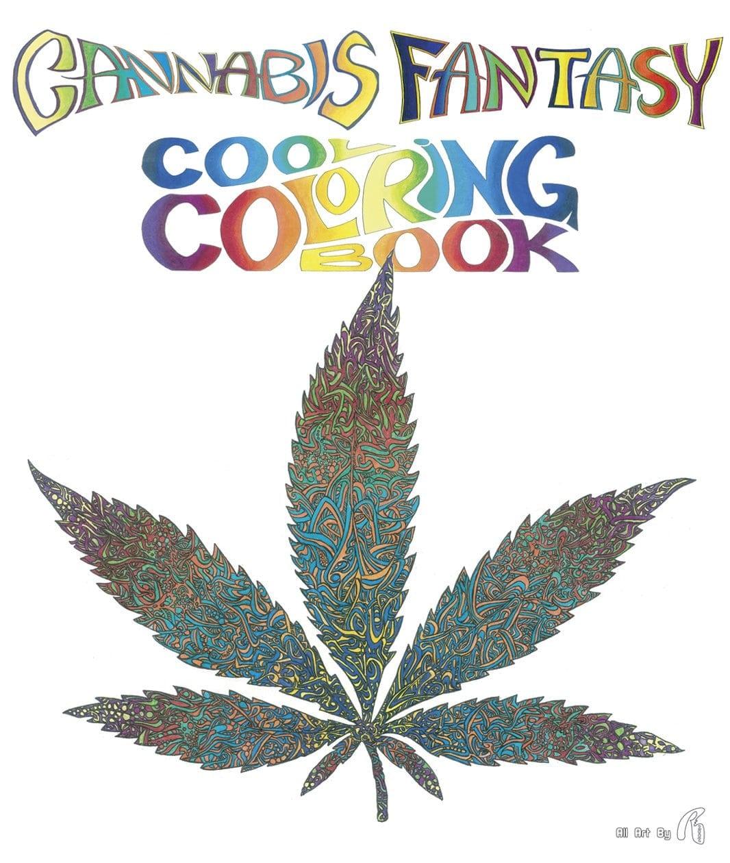 Amazon Com  Cannabis Fantasy Cool Coloring Book (9780867197174