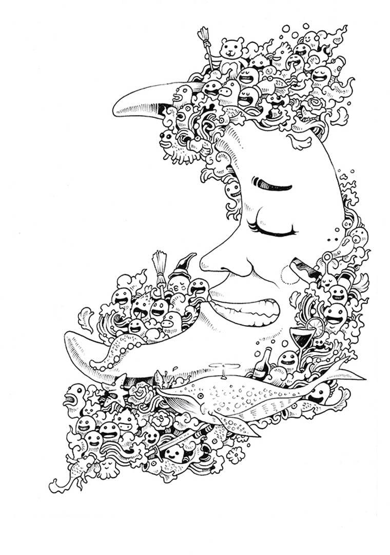 Doodle Invasion – Un Nouveau Livre De Coloriage Pour Les Adultes
