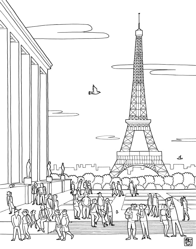 Federica Del Proposto Giving Color To Paris Book – A Coloring Book