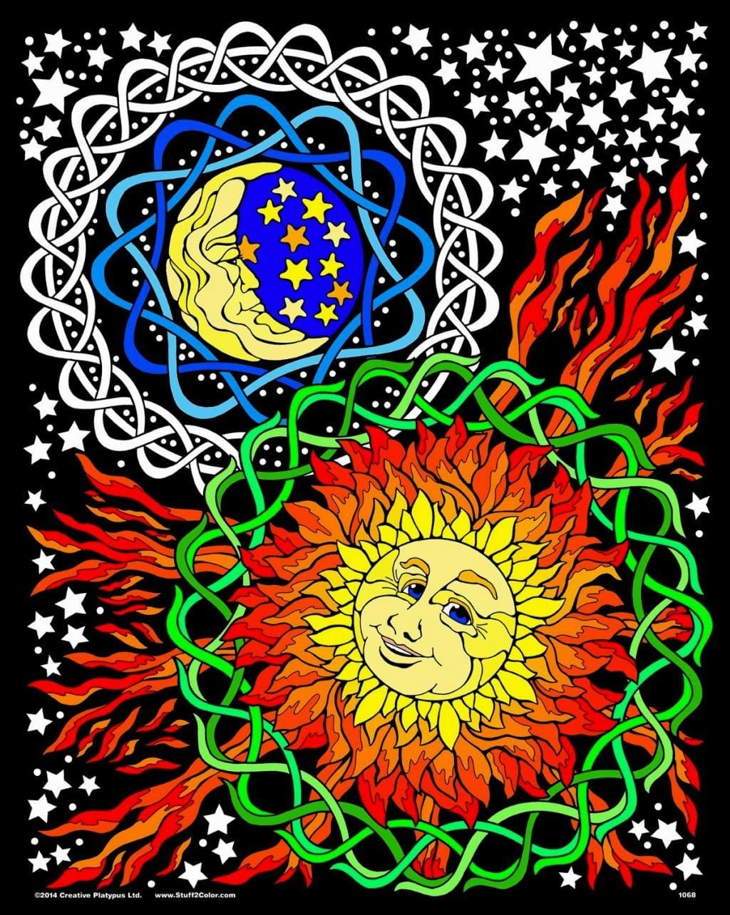 Fuzzy Coloring Poster