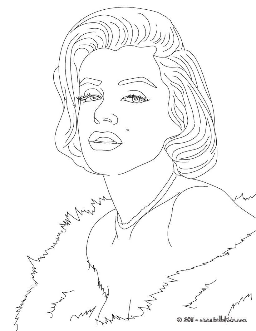 Marylin Monroe Coloring Page